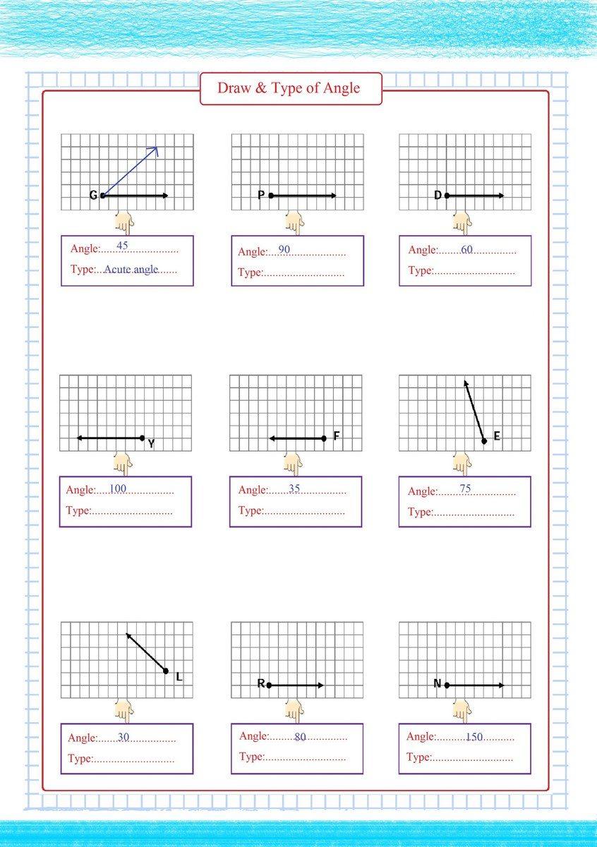 Draw & Type of Angles pdf