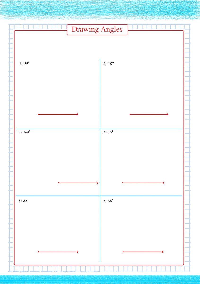 Drawing Angles Worksheets pdf