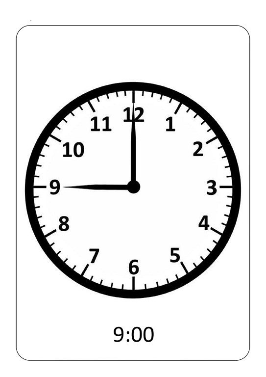 Telling time exercises