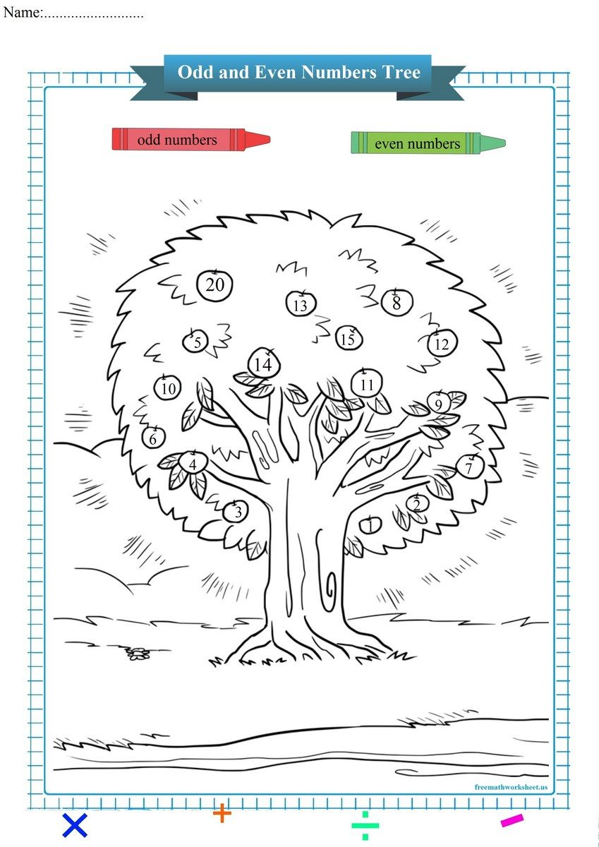 Odd and Even Numbers : Apples Tree pdf
